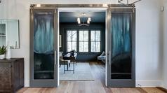 Back Painted Glass Sliding Doors