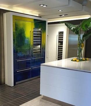 Kitchen with Refrigerator Panel