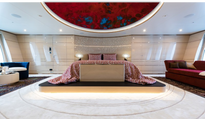 Yacht Stateroom with Glass Ceiling