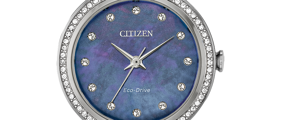 Citizen Eco-Drive Silhouette Crystal with Blue Mother of Pearl Dial EM0840-59N