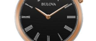 Bulova Regatta Rose and Silver Tone with Black Dial 98L265