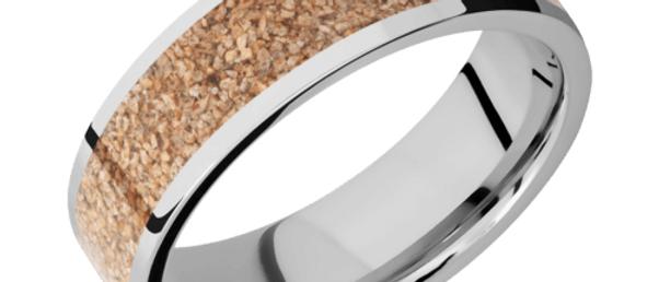 Cobalt Chrome Band with Dinosaur Bone Inlay