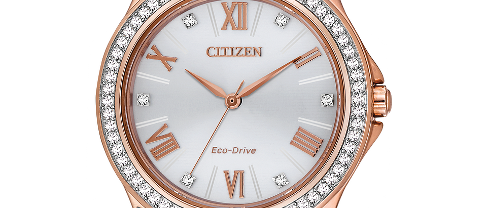 Citizen Eco-Drive Rose Tone with Crystals EM0233-51A