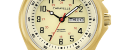 Caravelle Traditional Gold Tone with Expansion Band 44C112