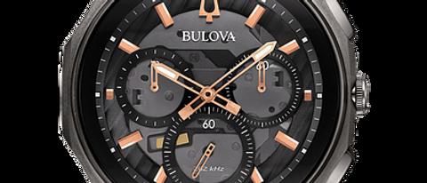 Bulova Curv Black and Rose Tone 98A162