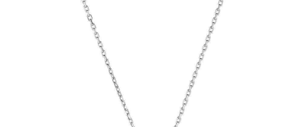 Silver & 18K Ruby Necklace