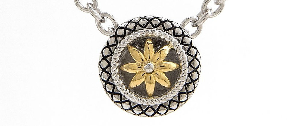 Silver and 18K Gold Necklace