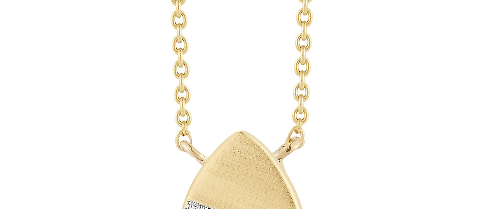 Gold Diamond Pave Pear Shaped Necklace