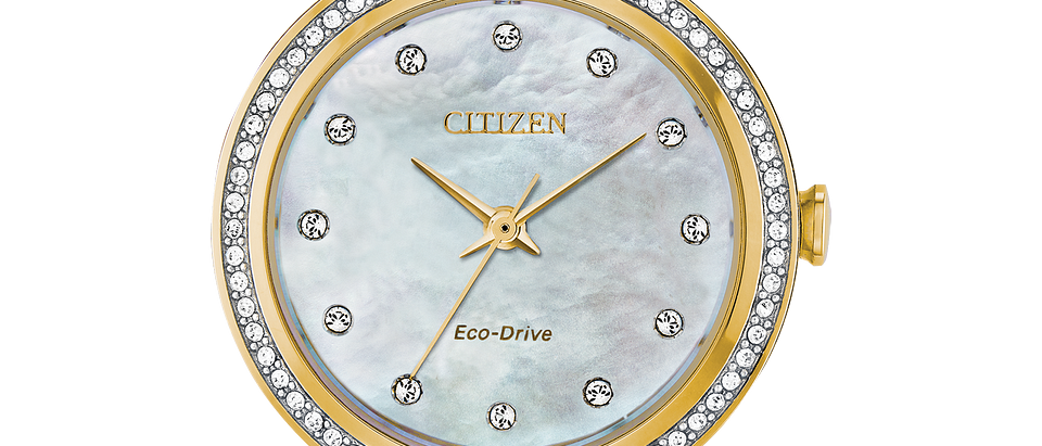 Citizen Eco-Drive Two Tone Silhouette Crystal EM0844-58D