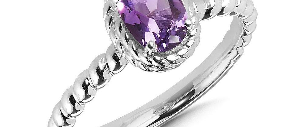 Oval Amethyst Ring