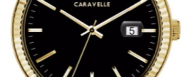 Caravelle Dress Black with Gold Tone Finish 44B118