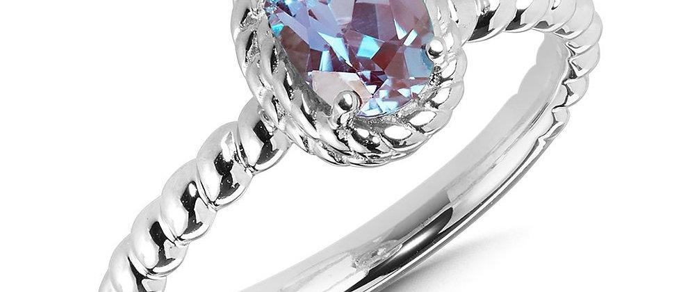 Created Alexandrite Ring