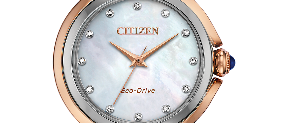 Citizen Eco-Drive Ceci Pink Gold Tone EM0796-75D