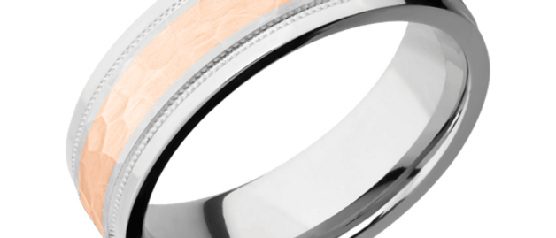 Cobalt Chrome Band with 14K Rose Gold Inlay