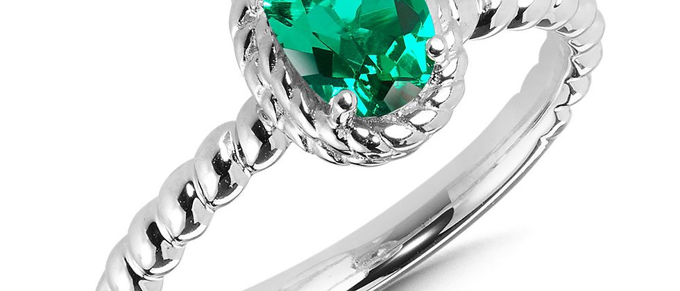 Created Emerald Ring