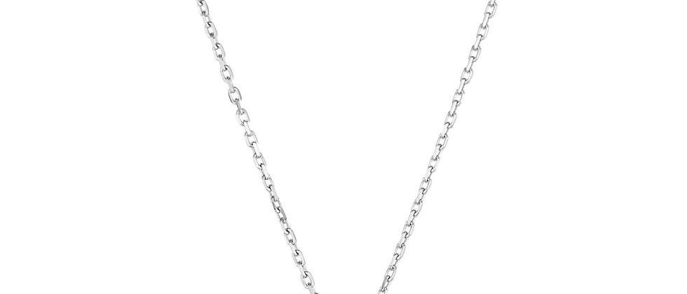 Silver & 18K Diamond Necklace