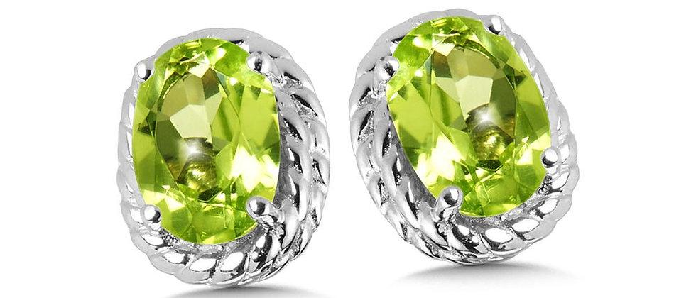 Oval Peridot Earrings