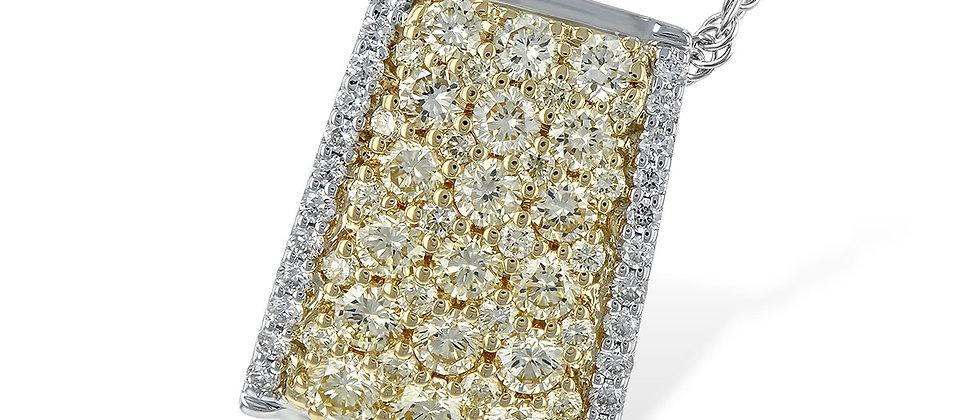 Two-Tone Yellow Diamond Necklace