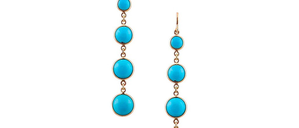18K Turquoise Dangle Earrings