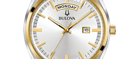 Bulova Surveyor Two-Tone Watch with Date and Time 98C127