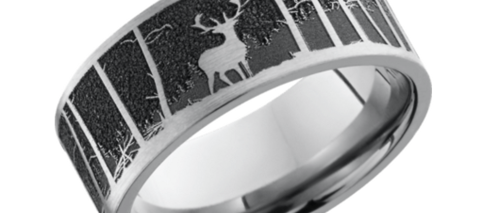 Cobalt Chrome Elk Mountain Design Band