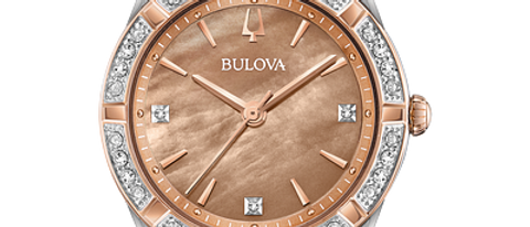 Bulova Sutton Rose Two-Tone with Stones 98R264