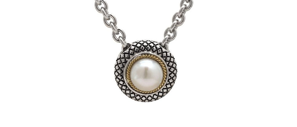 Silver and 18K Pearl Necklace