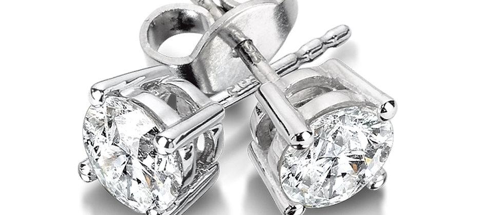 4 Prong Diamond Studs