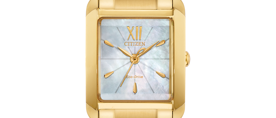 Citizen Eco-Drive Yellow Tone Bianca EW5552-53D