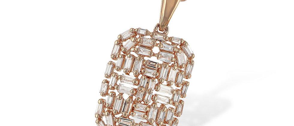 Rose Gold Baguette Necklace