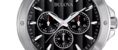 Bulova Classic Stainless Steel with Black Dial 96C107