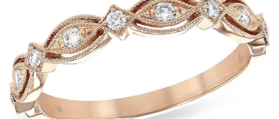 Rose Gold Diamond Band