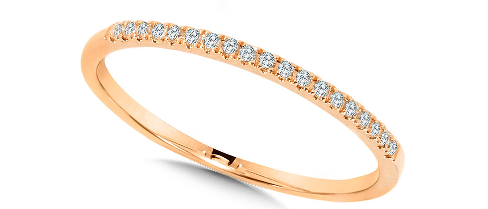 10K ROSE GOLD PETITE STACKABLE DIAMOND BAND