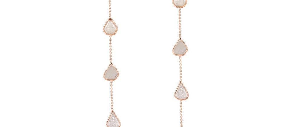 White Diamond Slice Earrings