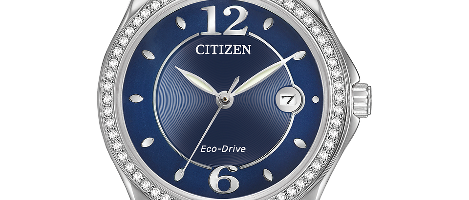 Citizen Eco-Drive Silhouette Crystal with Blue Dial FE1140-86L