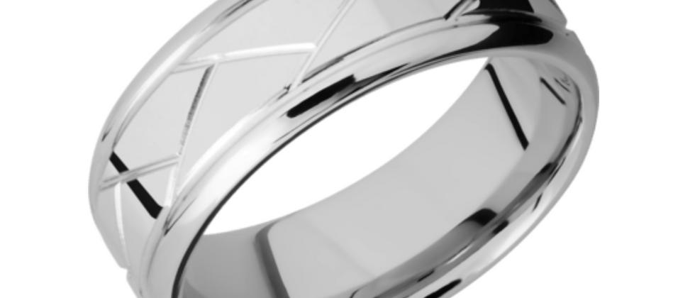 Titanium Band with Weave Design