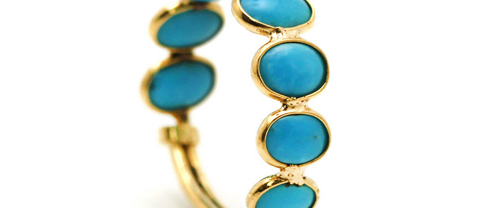 18K Turquoise Stackable Ring