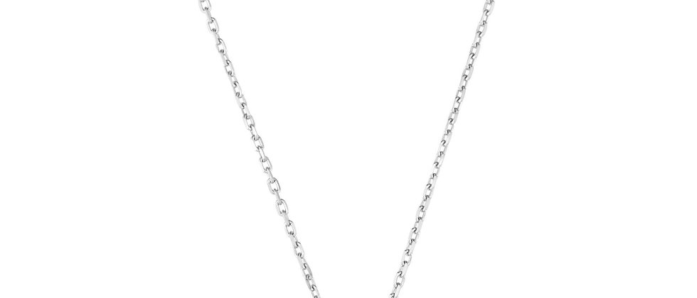 Silver & 18K Blue Topaz Necklace