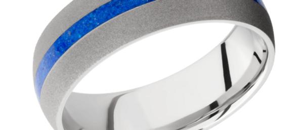 Cobalt Band with Lapis Inlay