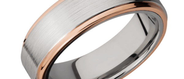 Cobalt Chrome and Rose Gold Band