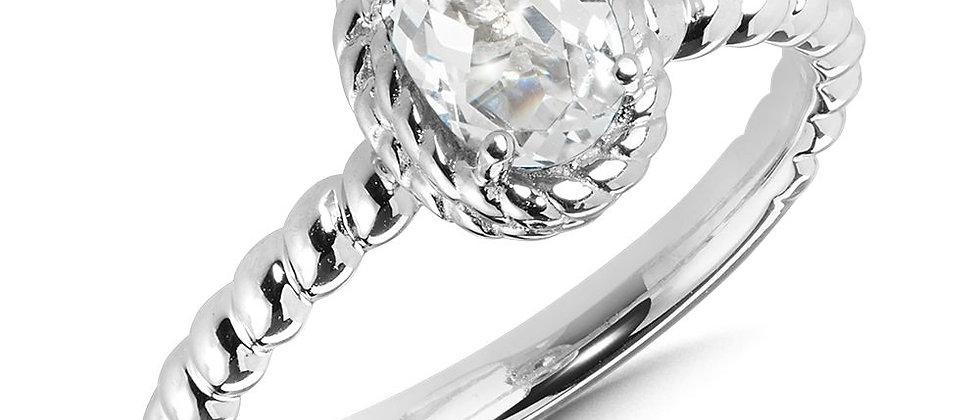 Created White Sapphire Ring