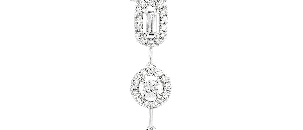 White Gold Diamond Dangle Necklace
