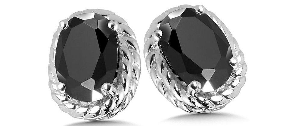 Oval Onyx Earrings