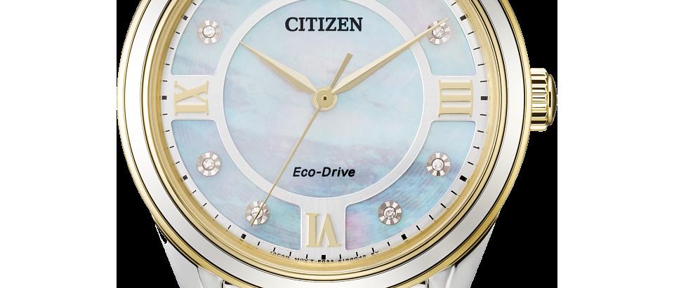 Citizen Eco-Drive Arezzo Two-Tone with Diamonds EM0874-57D
