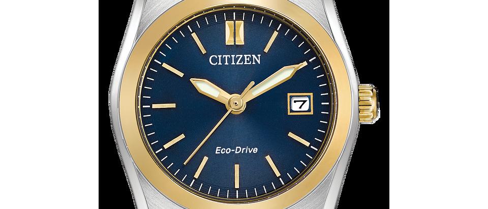 Citizen Eco-Drive Two Tone Corso with Blue Dial EW2294-53L