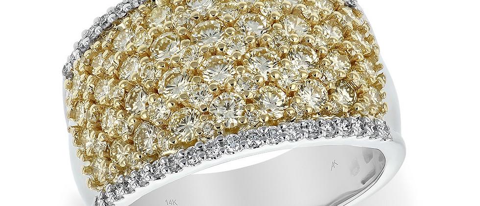 14K Yellow & White Diamond Ring