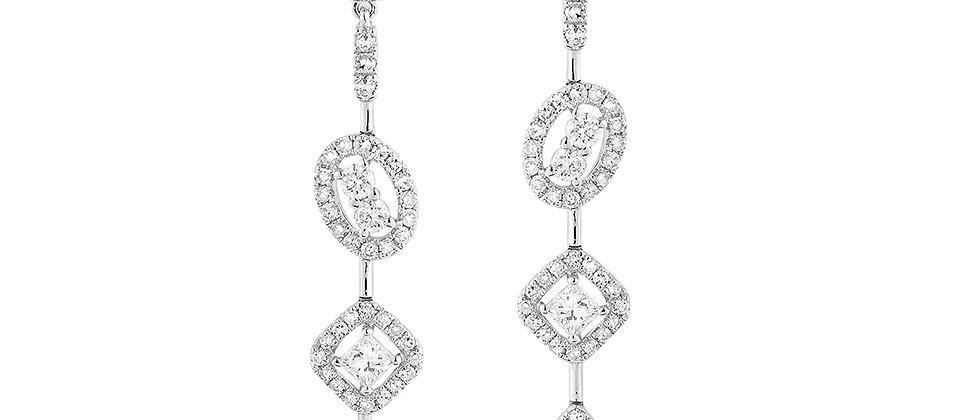 Multi-shape Diamond Earrings