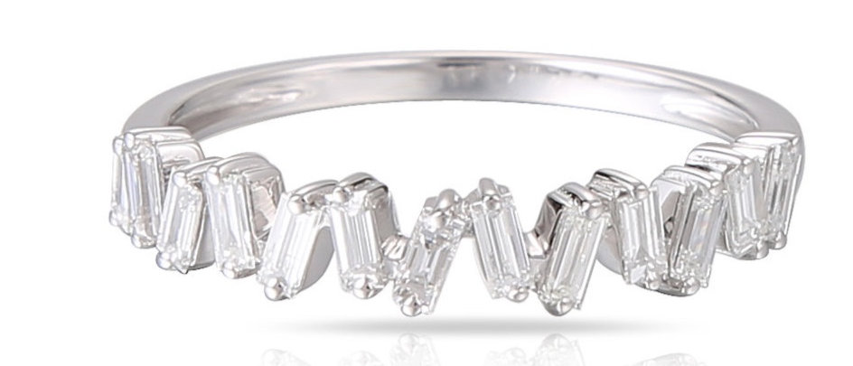 White Gold Baguette Diamond Band