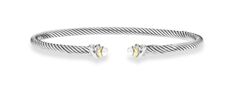Silver and 18K Pearl Cuff