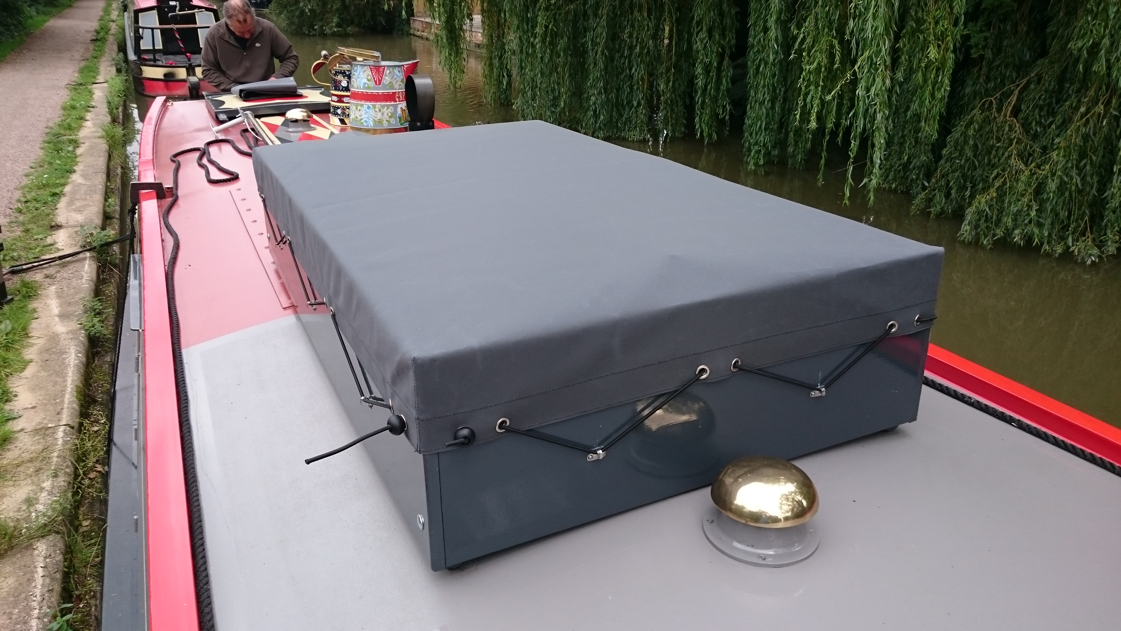 Roof box cover
